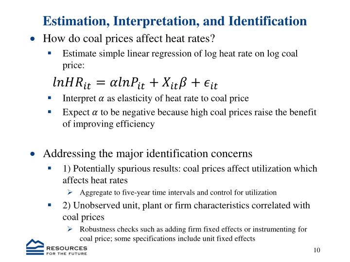 Estimation, Interpretation,