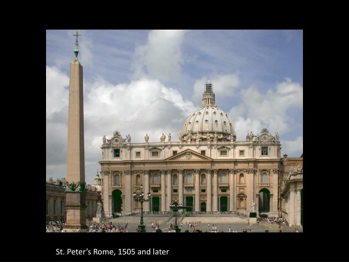 St. Peter's Rome, 1505 and later