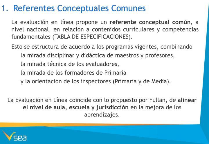 Referentes Conceptuales Comunes