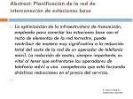 abstract planificaci n de la red de interconexi n de estaciones base