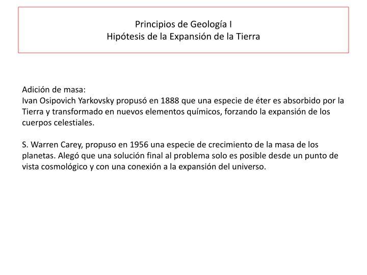 Principios de Geología I