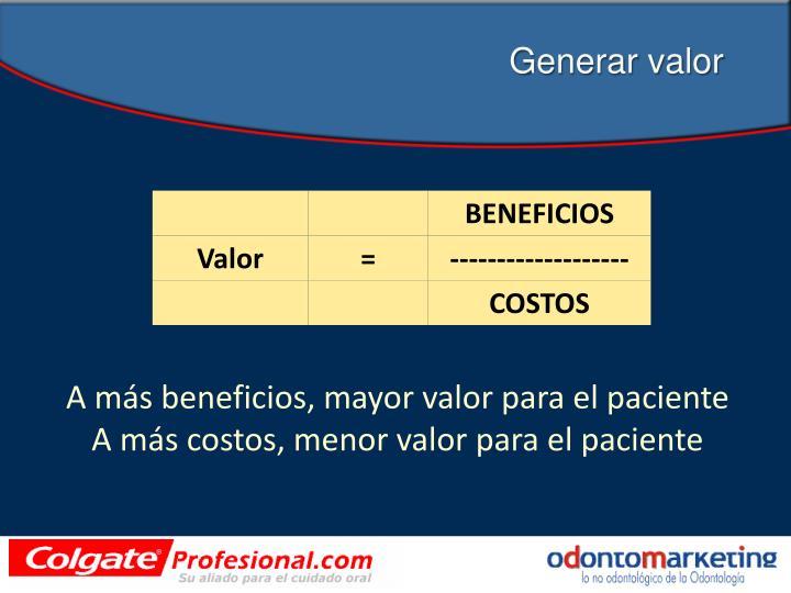 Generar valor