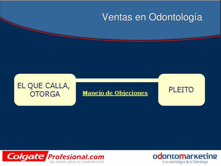 Ventas en Odontología