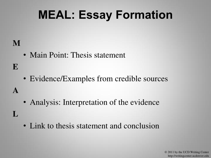 MEAL: Essay Formation