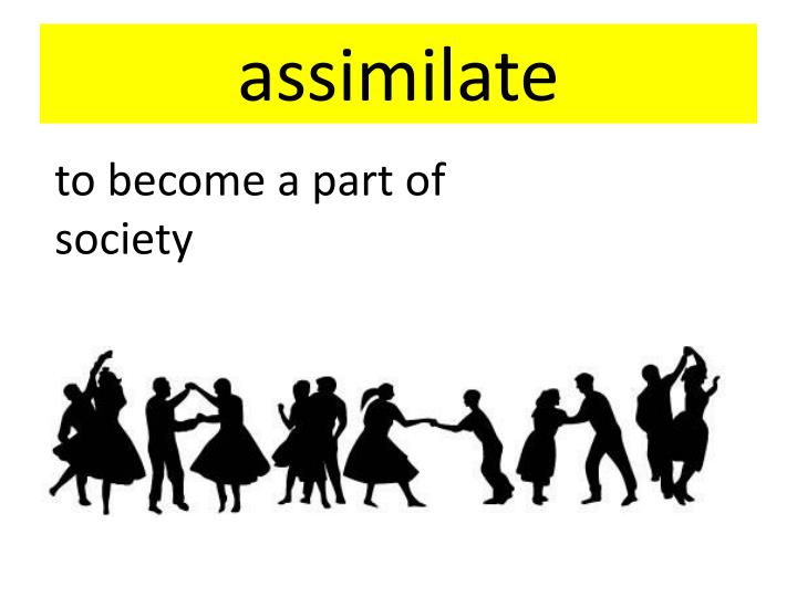assimilation into american society immigrants Since assimilation is not simple, people will have negative experiences when assimilating into american society in american society, learning to speak english properly is a crucial factor in assimilation.