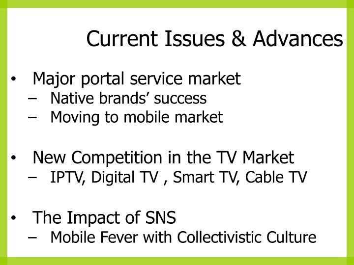 Current Issues & Advances