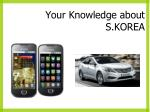 your knowledge about s korea1
