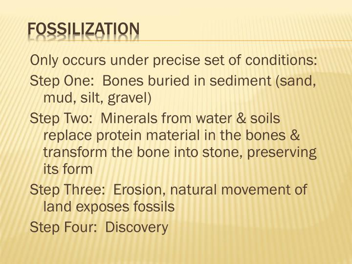 Only occurs under precise set of conditions: