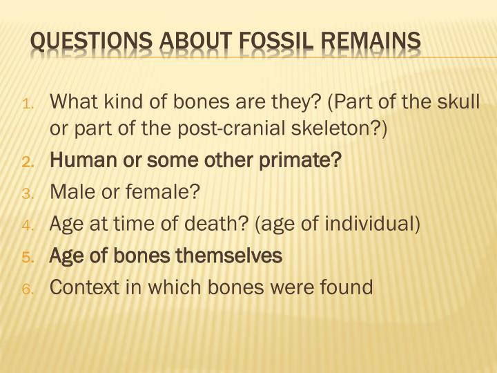 What kind of bones are they? (Part of the skull or part of the post-cranial skeleton?)