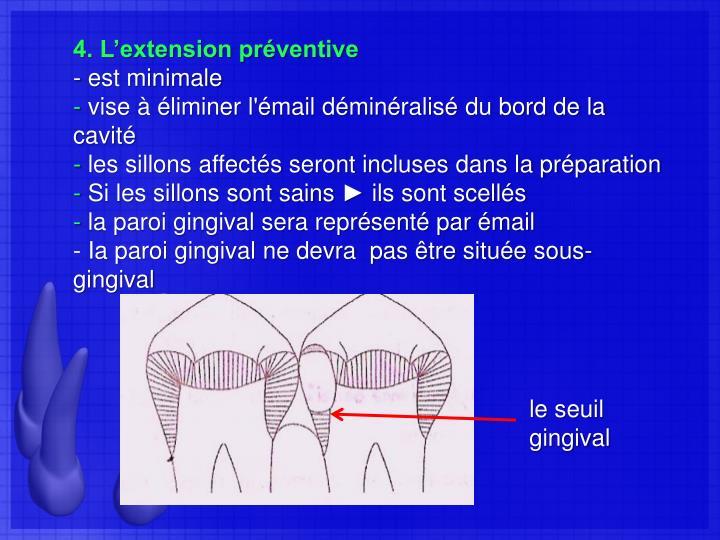 4. L'extension préventive
