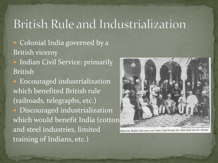 British Rule and Industrialization