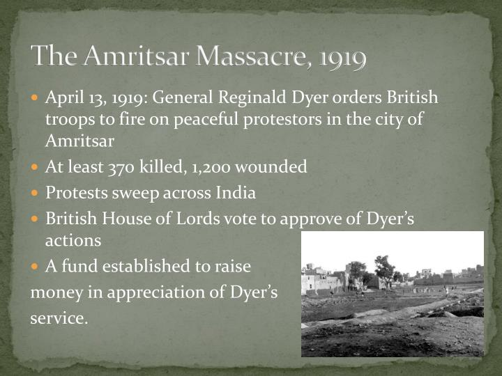 The Amritsar Massacre, 1919