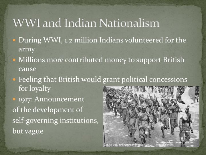 WWI and Indian Nationalism