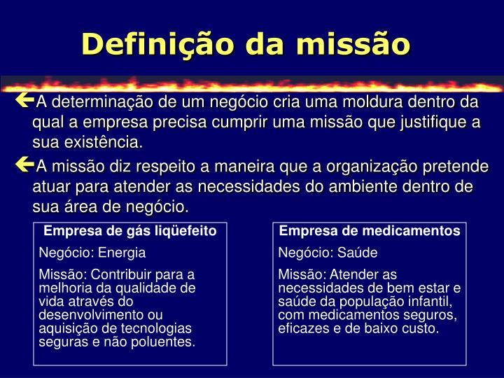 Definição da missão