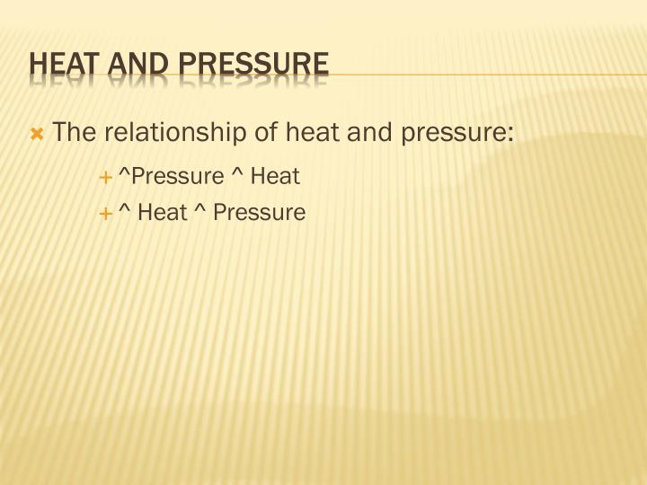 The relationship of heat and pressure: