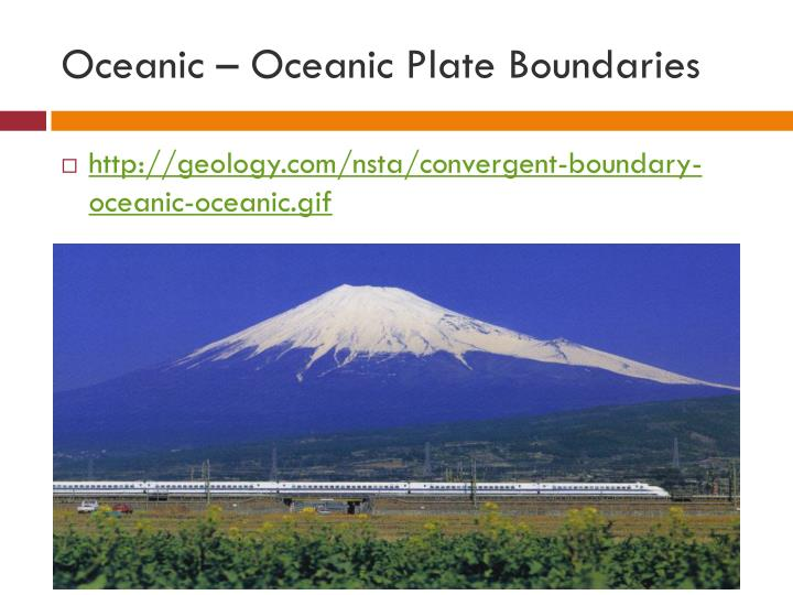 Oceanic – Oceanic Plate Boundaries