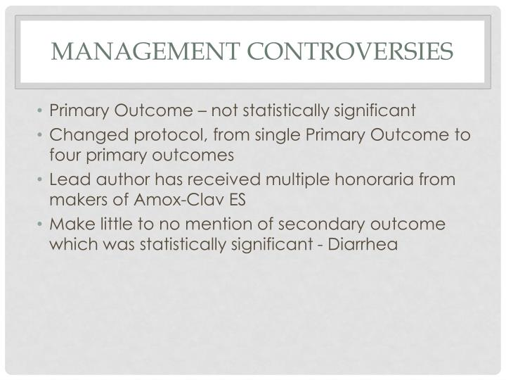 Management Controversies