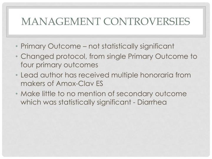 Management Controversies