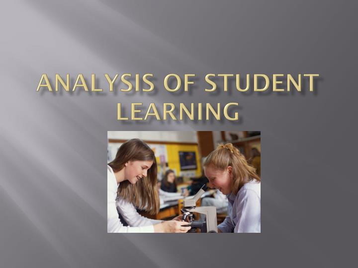 analysis of student learning