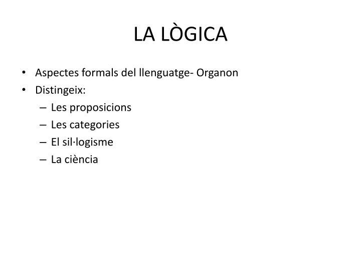 LA LÒGICA