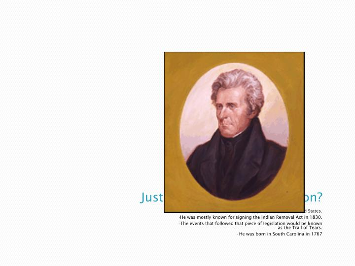 Just who was Andrew Jackson?