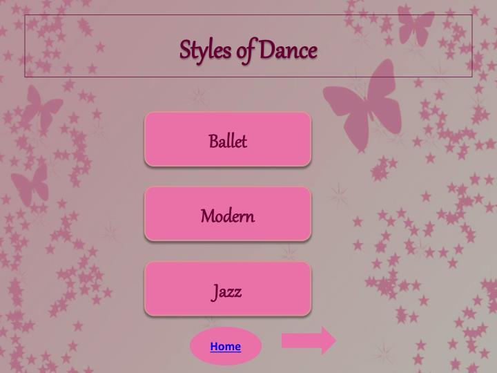 Styles of Dance