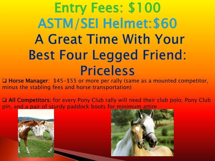 Entry Fees: $100