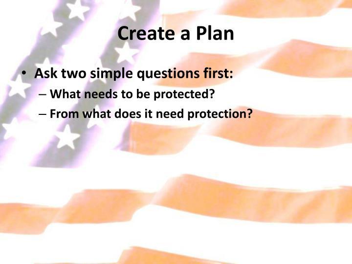 Create a Plan
