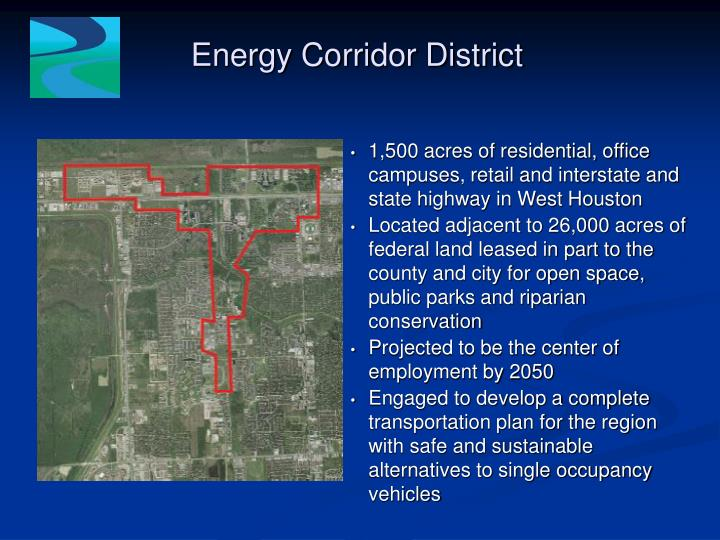 Energy corridor district