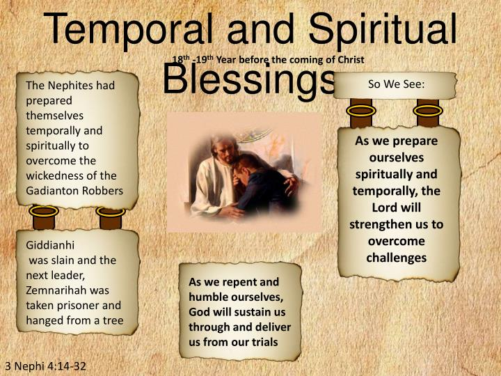 Temporal and Spiritual Blessings