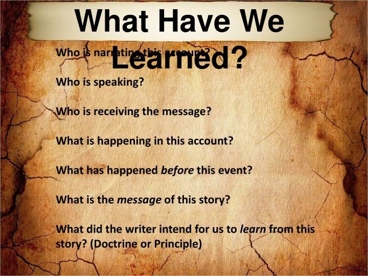 What Have We Learned?
