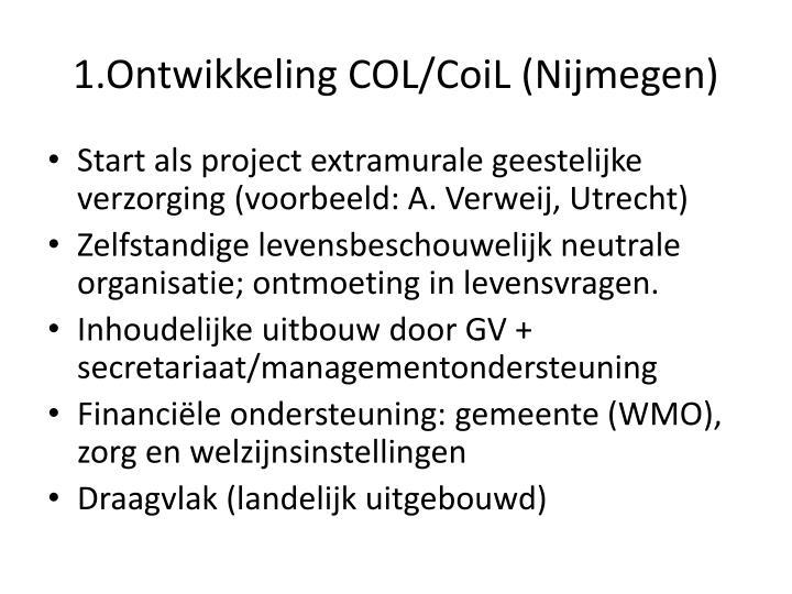 1.Ontwikkeling COL/