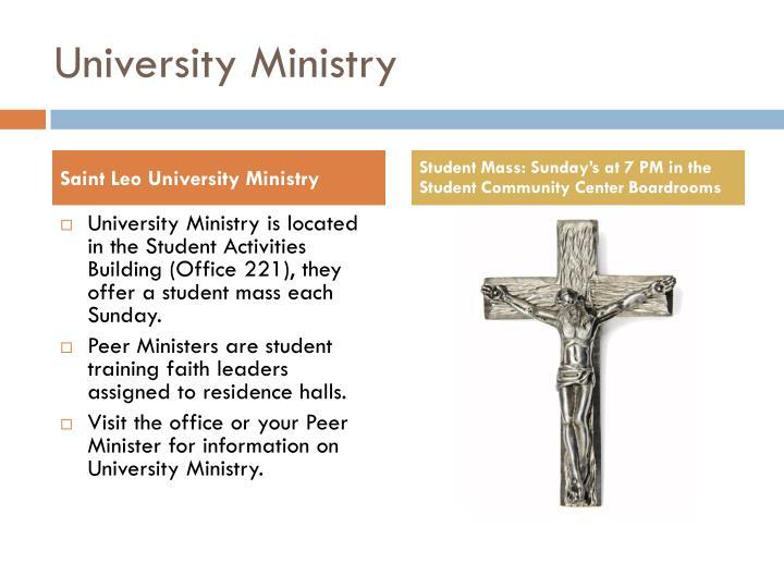 University Ministry