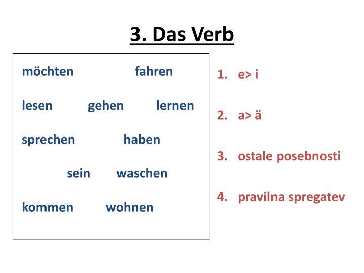 3. Das Verb