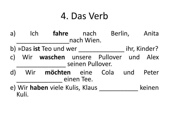 4. Das Verb