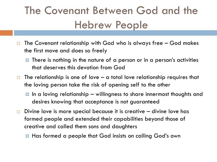 The Covenant Between God and the Hebrew People