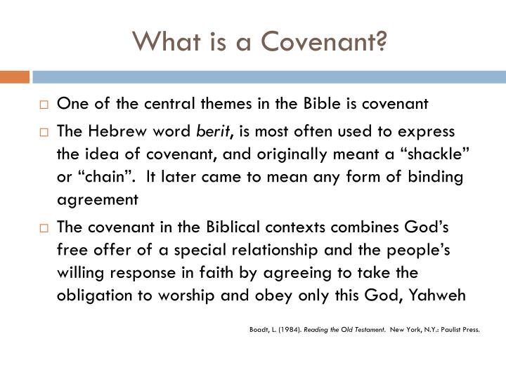 What is a covenant