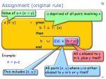 assignment original rule