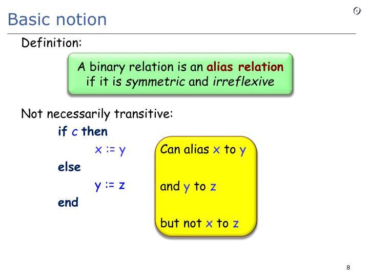 Basic notion