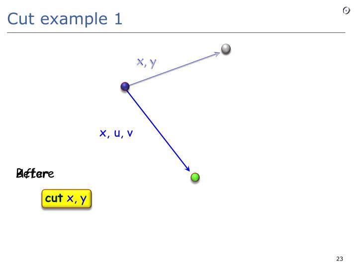 Cut example 1
