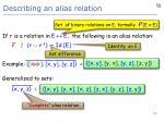 describing an alias relation