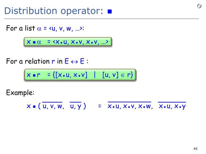 Distribution operator: