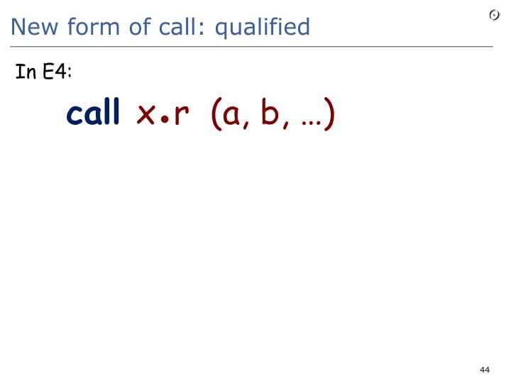 New form of call: qualified