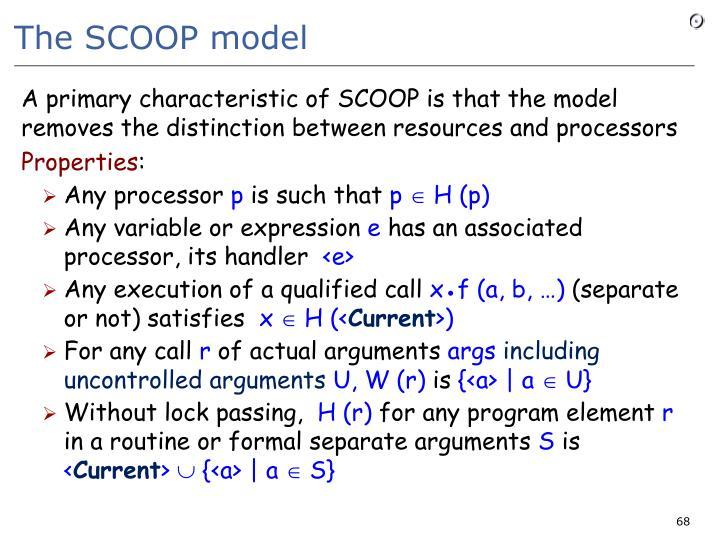The SCOOP model