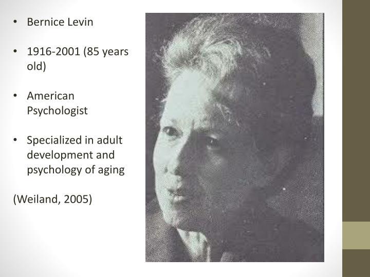 Bernice Levin