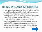 its nature and importance5