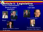 article i legislative lawmaking authority