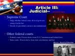 article iii judicial interprets laws