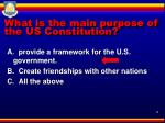 what is the main purpose of the us constitution