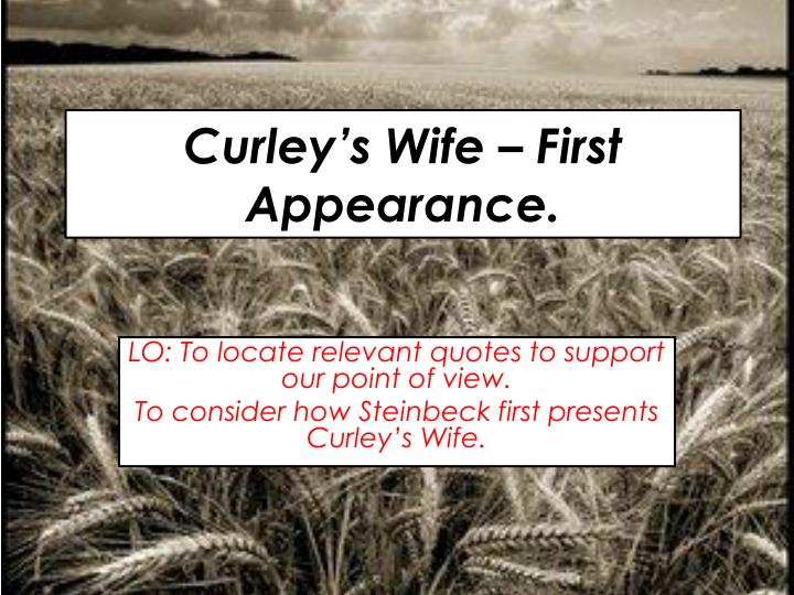 Curley's Wife – Of Mice and Men